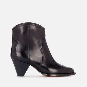Isabel Marant Women's Darizo Leather Heeled Ankle Boots - Black