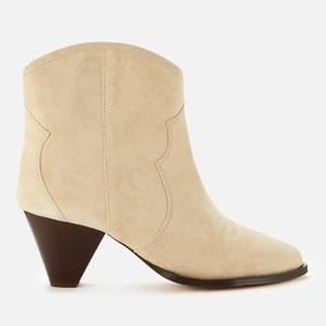 Isabel Marant Women's Darizo Suede Heeled Ankle Boots - Sand
