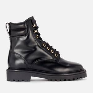 Isabel Marant Women's Campa Leather Lace Up Boots - Black
