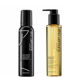Shu Uemura Art of Hair Awa Volume and Essence Absolue Oil Styling Duo