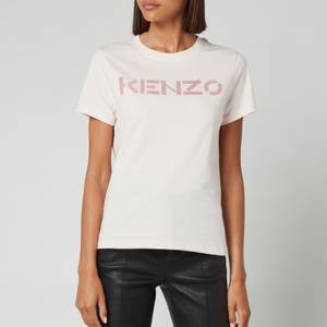 KENZO Women's Logo Classic T-Shirt - Faded Pink