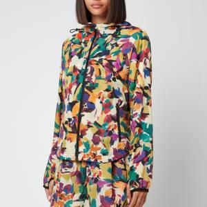 KENZO Women's Printed Nylon Windbreaker - Khaki