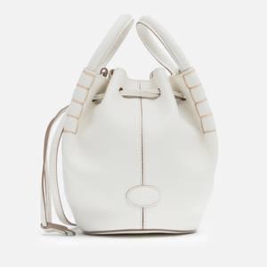 Tod's Women's Aoz Micro Bucket Bag - White