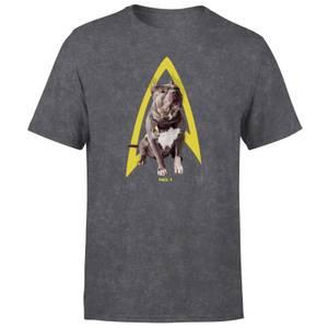 Star Trek: Picard Number One Unisex T-Shirt - Black Acid Wash