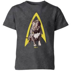 Star Trek: Picard Number One Kids' T-Shirt - Black Acid Wash