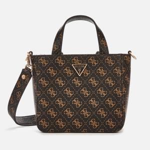 Guess Women's Layla Mini Tote Bag - Brown Logo