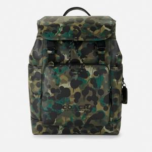Coach Men's Wild Beast League Flap Backpack - Green/Blue