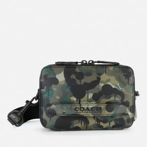 Coach Men's Wild Beast Charter Cross Body Bag In Pebble Leather - Green/Blue