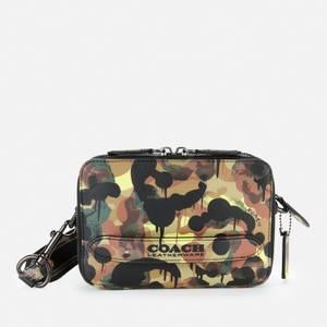 Coach Men's Wild Beast Charter Cross Body Bag In Pebble Leather - Neon/Yellow/Brown