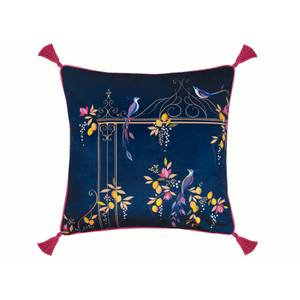 Sara Miller Bird & Gate Cushion - Navy - 50x50cm
