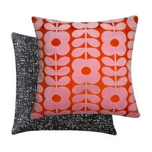 Orla Kiely Flower Stem Velvet Cushion - Pink