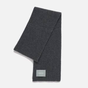 Organic Basics Recycled Wool Rib Scarf - Charcoal Melange