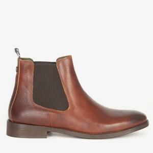 Barbour Men's Bedlington Leather Chelsea Boots - Chestnut Grain