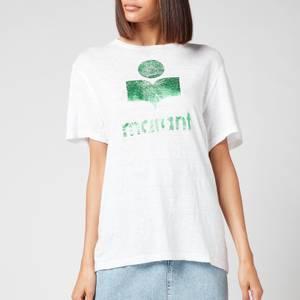 Isabel Marant Étoile Women's Zewel T-Shirt - Green/white