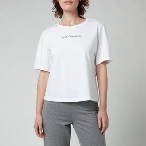 Emporio Armani EA7 Women's Train Logo Series Cross Over T-Shirt - White
