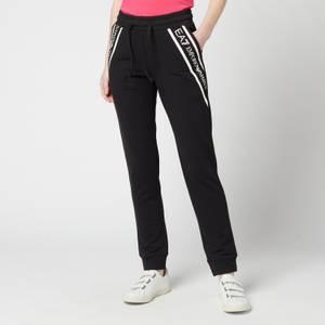 Emporio Armani EA7 Women's Train Shiny Pants - Black/White