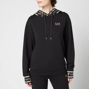 Emporio Armani EA7 Women's Train Track Suit - Black/Gold