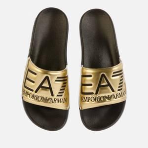 Emporio Armani EA7 Women's Sea World Visibility Slides - Shiny Gold/Black