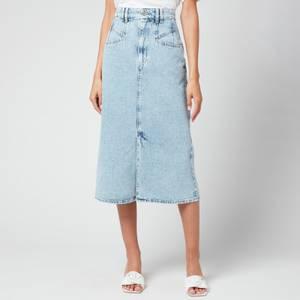 Isabel Marant Women's Dipoma Denim Skirt - Light Blue