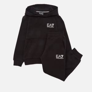 Emporio Armani EA7 Boys' Sporty Core Identity Fleece Tracksuit - Black