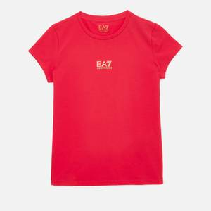 Emporio Armani EA7 Girls' Sporty Shiny Logo T-Shirt - Rose Red