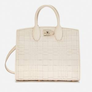 Salvatore Ferragamo Women's The Studio Box Bag Woven - Bone
