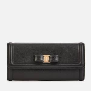 Salvatore Ferragamo Women's Vara Bow Wallet - Black