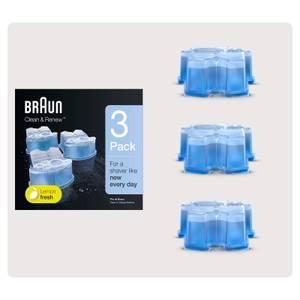Braun Cleaning Cartridge 3 Pack