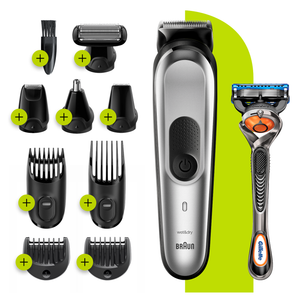 All-in-one Trimmer with 8 attachments and Gillette Razor