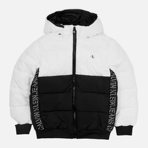Calvin Klein Boys' Colour Block Puffer Jacket - Bright White