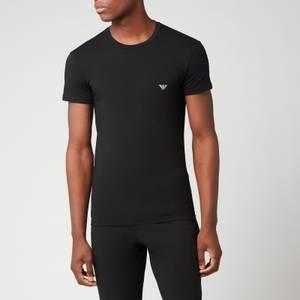 Emporio Armani Loungewear Men's Slim Fit Crewneck T-Shirt - Black
