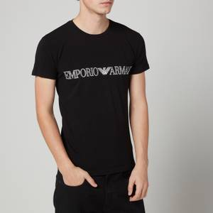 Emporio Armani Loungewear Men's Mega Logo Crewneck T-Shirt - Black