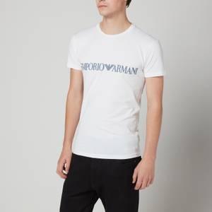 Emporio Armani Loungewear Men's Mega Logo Crewneck T-Shirt - White