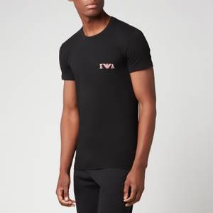 Emporio Armani Loungewear Men's Bold Monogram Crewneck T-Shirt - Black