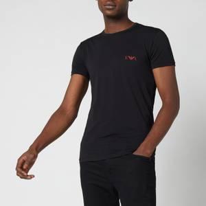 Emporio Armani Underwear Men's 2-Pack Slim Fit Crewneck T-Shirts - Black/Black