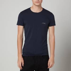 Emporio Armani Loungewear Men's 2-Pack Slim Fit Crewneck T-Shirts - Marine/Marine