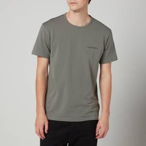 Emporio Armani Loungewear Men's 2-Pack Regular Fit Crewneck T-Shirt - Black
