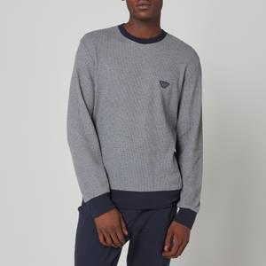 Emporio Armani Loungewear Men's Sweatshirt + Jogger Set - Dark Grey Melange