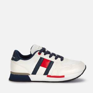 Tommy Hilfiger Boys' Low Cut Lace-Up Sneaker - White/B White/Blue