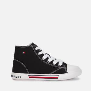 Tommy Hilfiger Unisex High Top Lace-Up Sneaker - Black