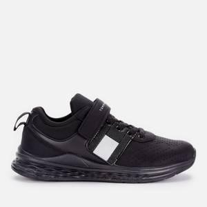 Tommy Hilfiger Boys' Low Cut Lace-Up/Velcro Sneaker Black Black
