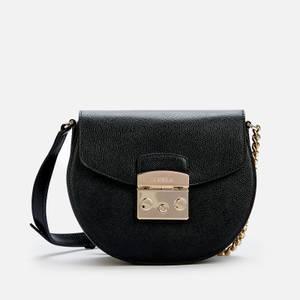 Furla Women's Metropolis Mini Cross Body Round Bag - Black