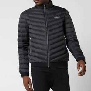 Armani Exchange Men's Zipped Down Jacket - Black/Melange Grey