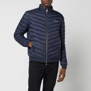Armani Exchange Men's Zipped Down Jacket - Navy/Melange Grey