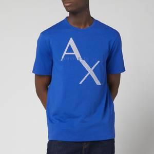 Armani Exchange Men's Large Ax Logo T-Shirt - Ultra Marine