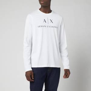 Armani Exchange Men's Ax Logo Long Sleeve T-Shirt - White
