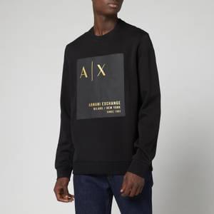 Armani Exchange Men's Patch Logo Sweatshirt - Black