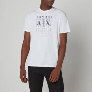 Armani Exchange Men's Gradient Logo T-Shirt - White