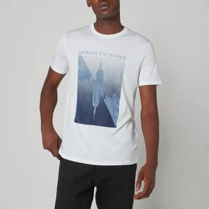 Armani Exchange Men's Graphic Logo T-Shirt - White