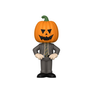The Office Dwight w/Pumpkinhead Vinyl Soda Figure in Collector Can